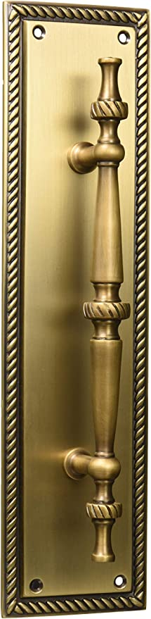Brass Accents A06 P0241 609 Academy Pull Plate 3 1 8 X 12 Antique Brass Pulls Amazon Canada
