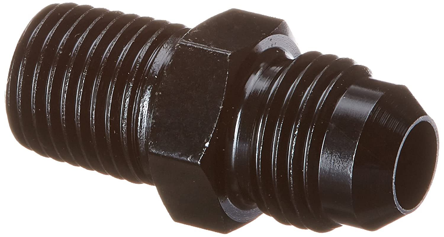 Professional Products (16239) Black -6AN to 1/4NPT Straight Flare to Pipe Fitting