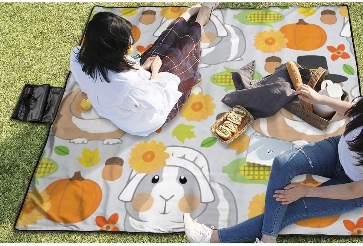 Sandfeste Strandmatte f/ür Camping Wandern N//A Gro/ße wasserdichte Picknickdecke f/ür den Au/ßenbereich Thanksgiving Meerschweinchen Reisen Gras