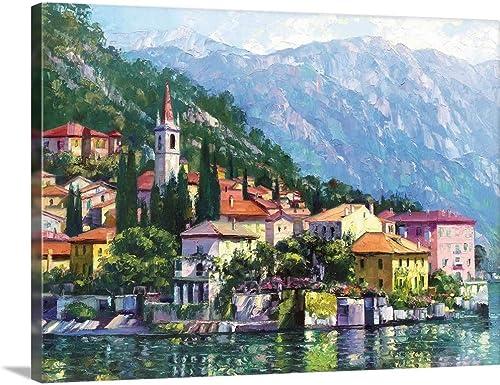 Reflections of Lake Como Canvas Wall Art Print