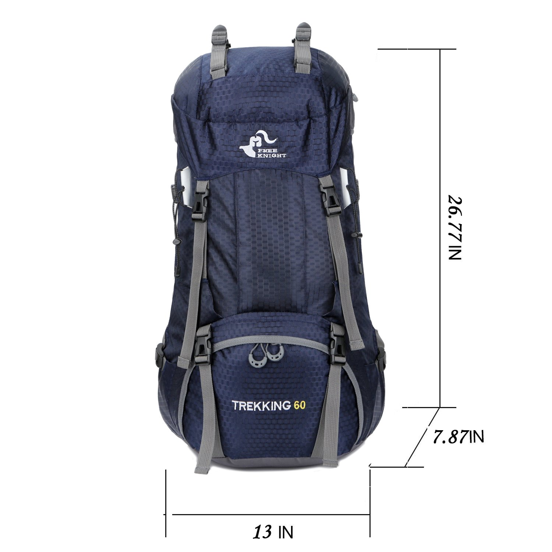 con Funda para la Lluvia 60 L Impermeable Plegable Ultraligera Free Knight Mochila de Viaje para Escalada y Pesca