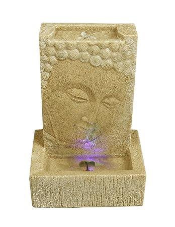 Brunnen Buddha Zimmerbrunnen Mit Led Wohnung Entspannung ... Buddha Deko Wohnzimmer