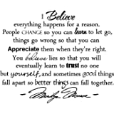 Amazoncom Framed Everything Happens Marilyn Monroe Quote By N