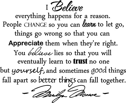 Image result for i believe that everything happens for a reason essay