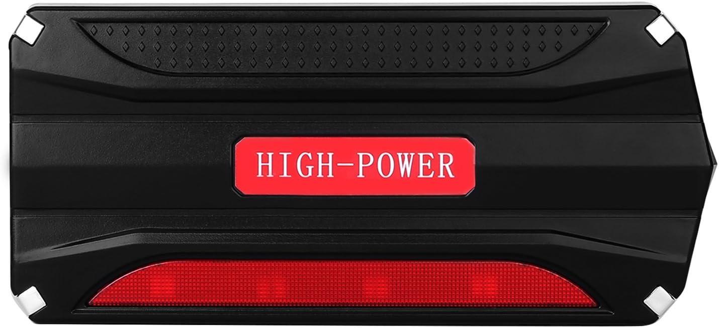 Jump Starter Batería Portátil de Emergencia para coche, YOKKAO Arrancador de Emergencia para coche 16800mAh 600, Kit de Arranque para coche con USB, Luz LED, Cargador Power Bank para Coche, Moto, Laptop,