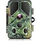 Campark WiFi Bluetooth Trail Camera 20MP 1296P, No Glow Night Vision Game Camera Motion Activated Hunting Camera…