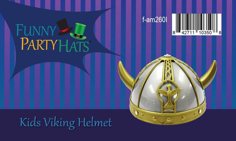 Children Viking Helmet Hard Hat Kids World Book Day Fancy Dress Party Accessory
