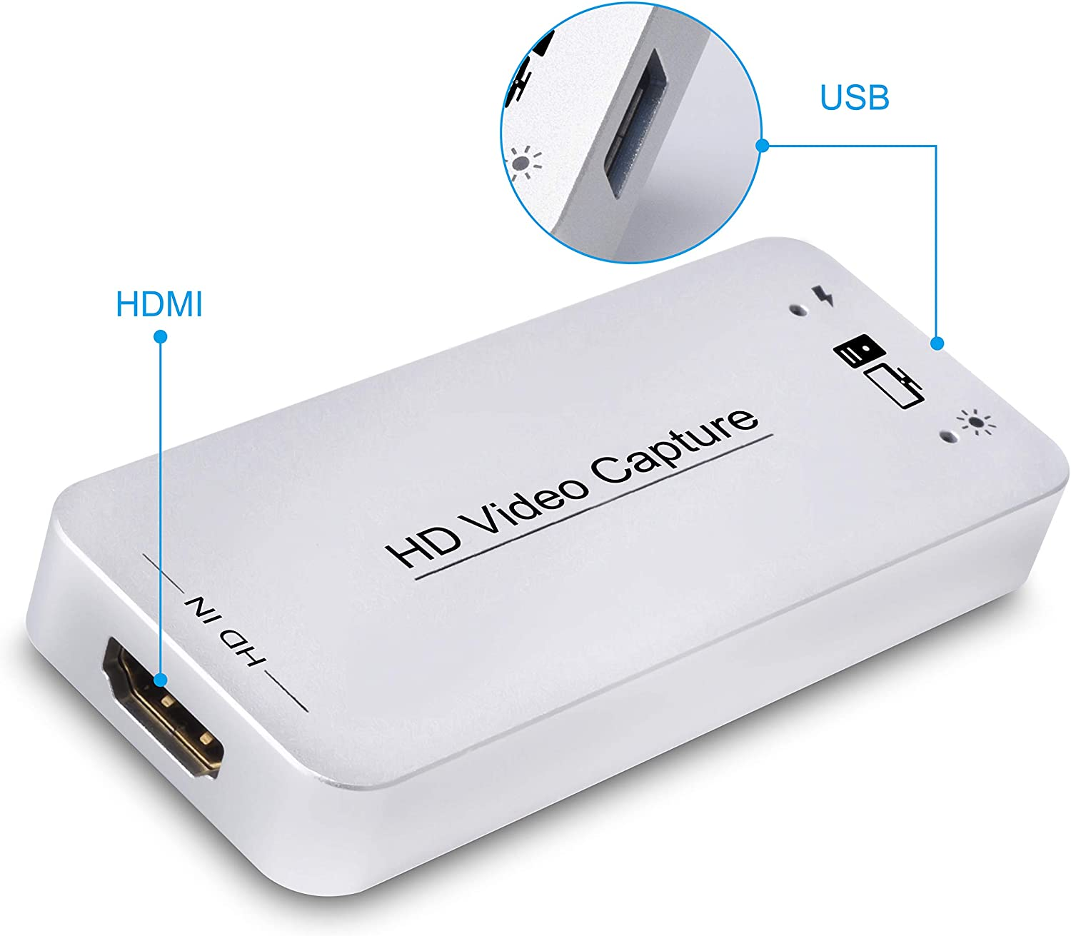 Type-C USB3.0 Video Capture Dongle 4K//60Hz HDMI Output/&Input Support UAC/&UVC