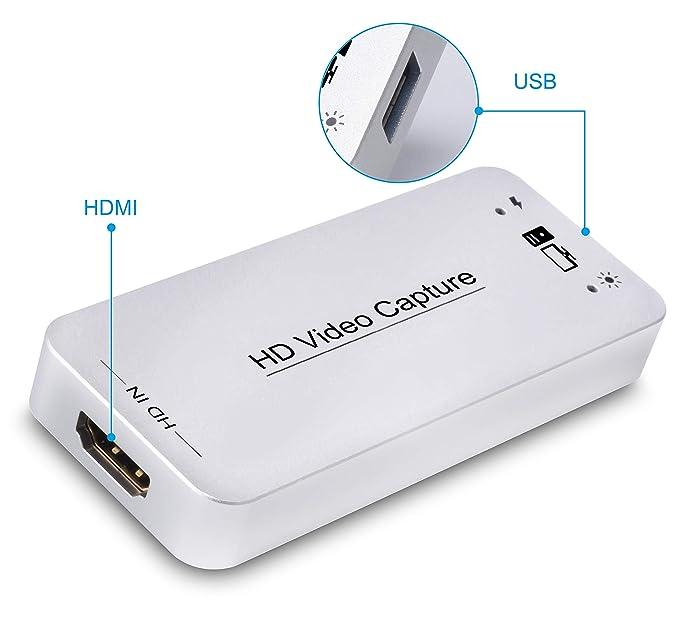 Amazon.com: Tarjeta de vídeo HDMI de captura USB ...