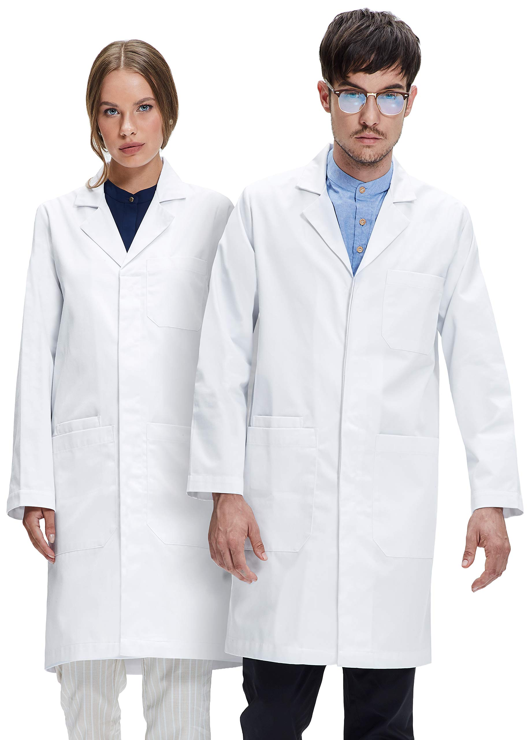 Dr. James Professionally Designed Unisex Lab Coat - 39 Inch Length US-01-2XL by Dr. James