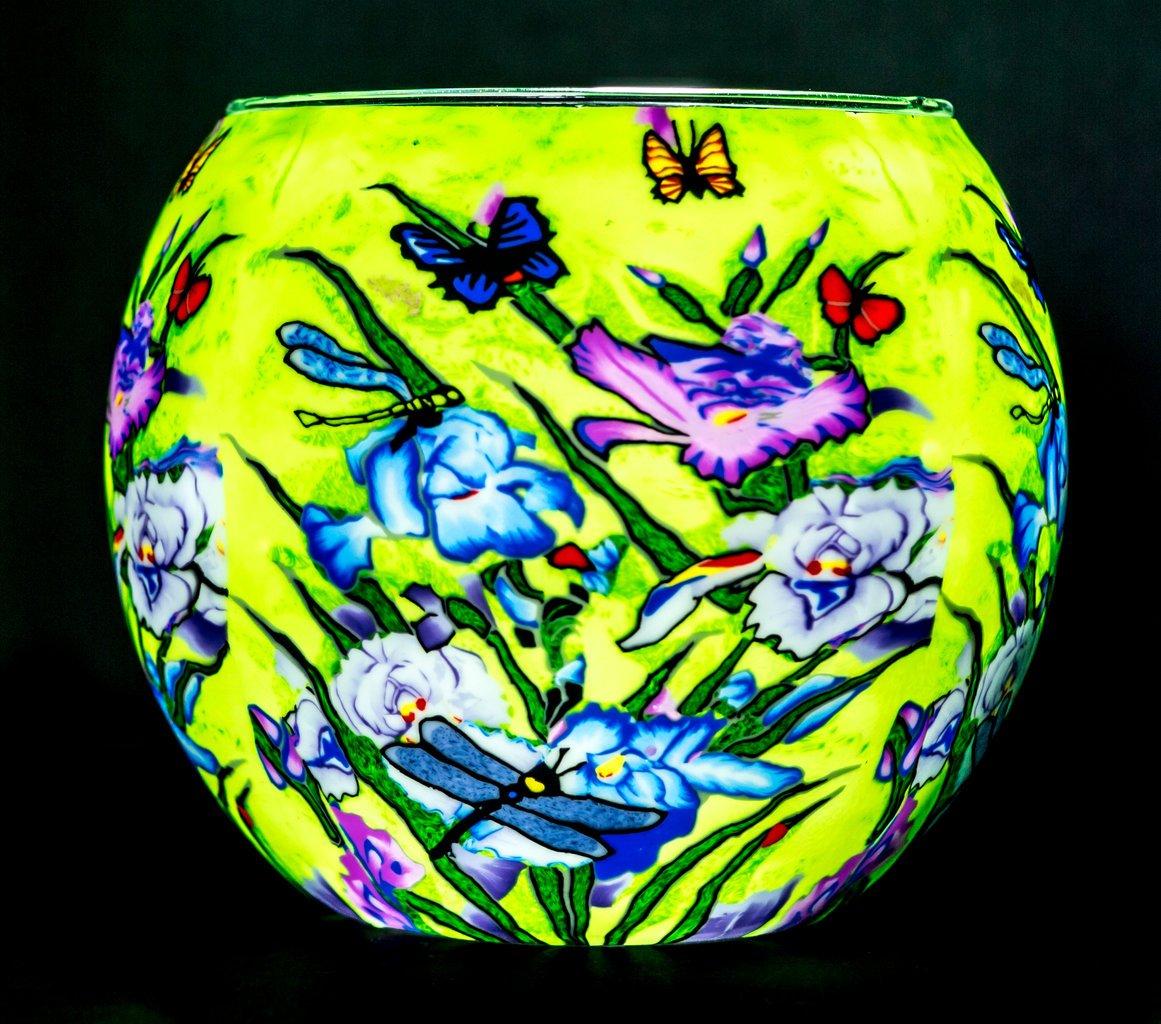 Benaya Glass Nightlight Tealight Holder - Natures Garden Milford Collection
