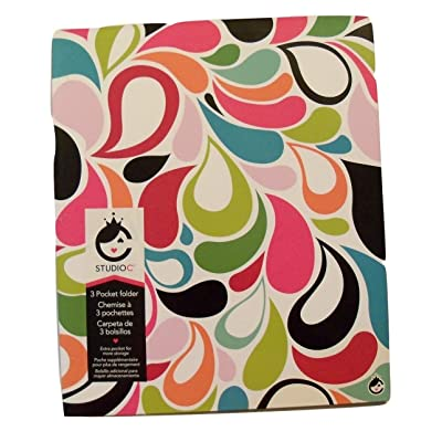 Studio C Carolina Pad Tri-fold 3-Pocket Folder, Sugarland (Flower Petals): Toys & Games