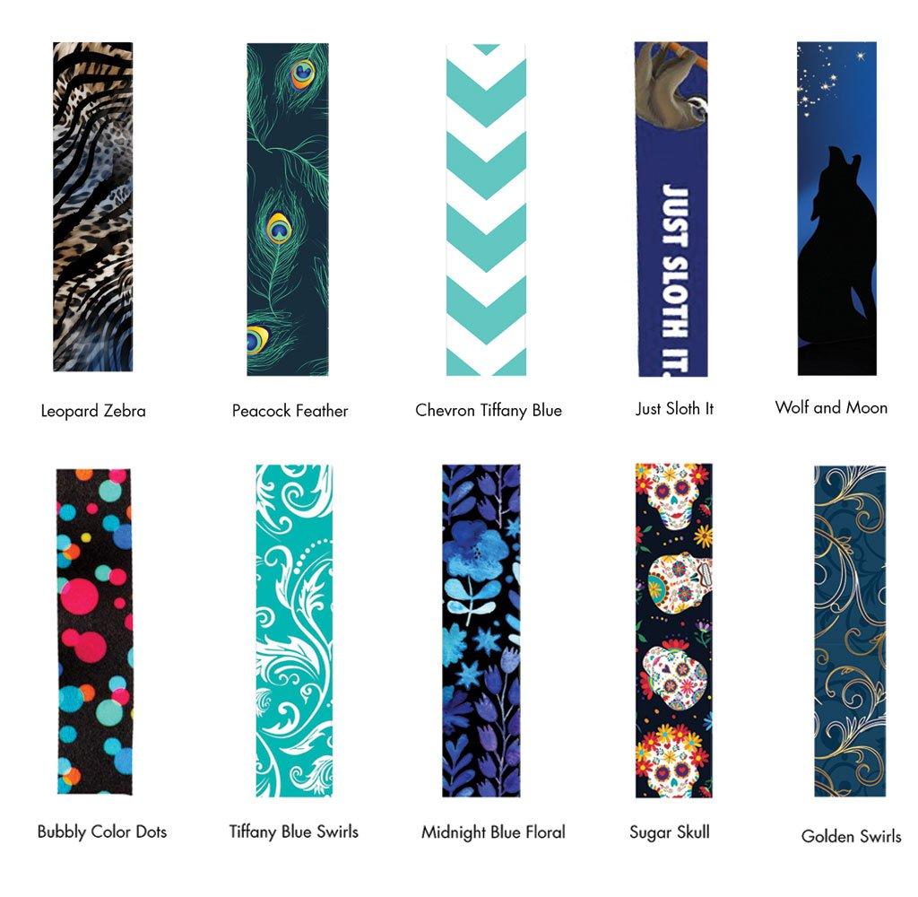 Torcia portachiavi moschettone. Midnight Blue Floral Lanyard con porta badge in pelle PU con 3 tasche per schede clip di sicurezza