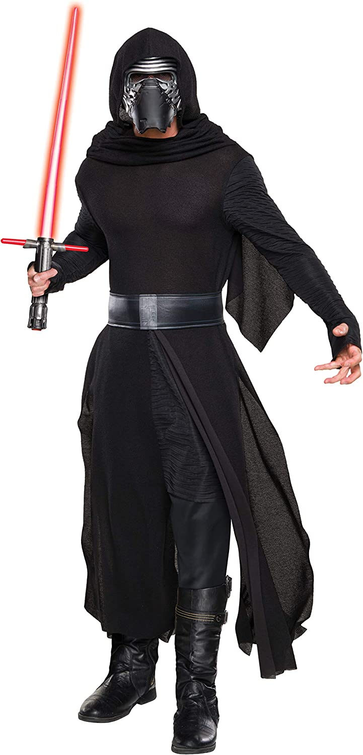 Star Wars The Force Awakens Kylo Ren Super Deluxe Adult Costume FREE SHIPPING!