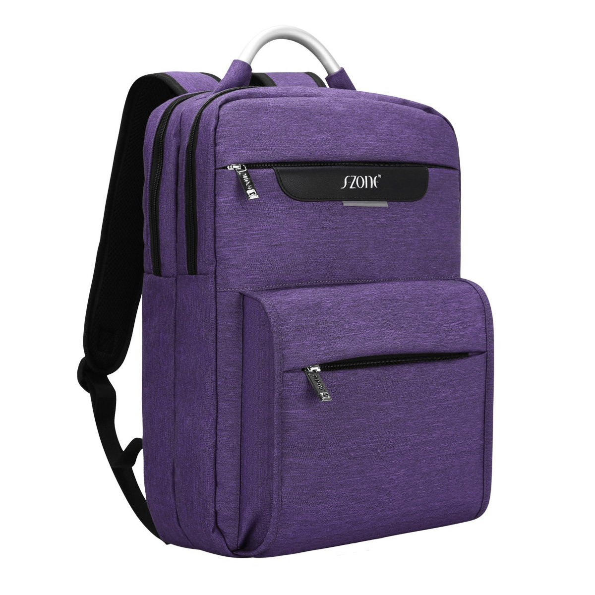 S-ZONE Lightweight 15.6-inch Laptop Backpack College School Backpacks Business Travel Daypack Purple S-ZONE D04V841C
