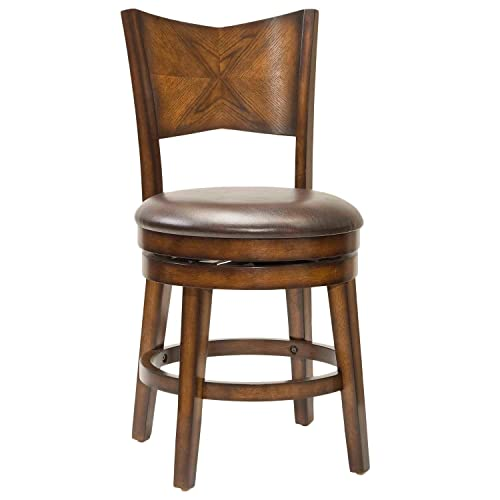Hillsdale Furniture Swivel Stool in Rustic Oak Finish 30 in. Bar Height