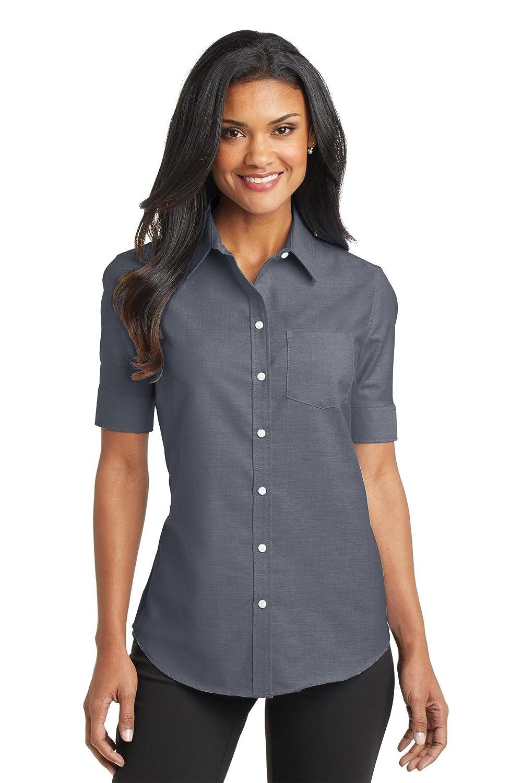 Port Authority Women's Short Sleeve SuperPro Oxford Shirt