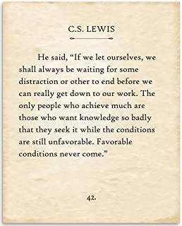 product image for C.S. Lewis - If We Let Ourselves - 11x14 Unframed Typography Book Page Print - Great Gift for Historical, Biblical and Theologian Book Enthusiasts Under $15