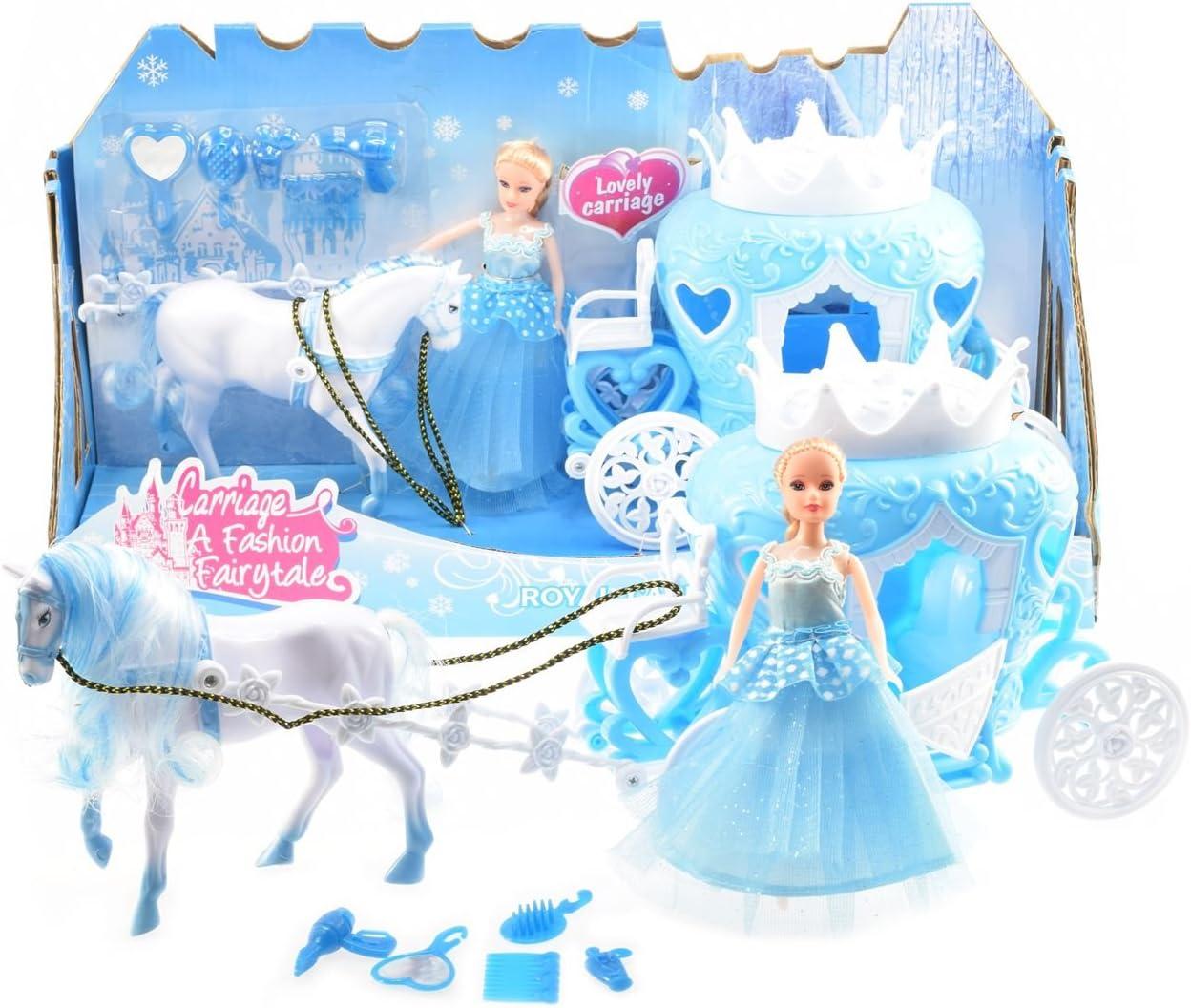 Toi-Toys 12879A Ice Princess - Juego de Helado de Princesa de Caballo con cantería y muñeca, Color Azul Licencia Juego de Juguetes, Multicolor