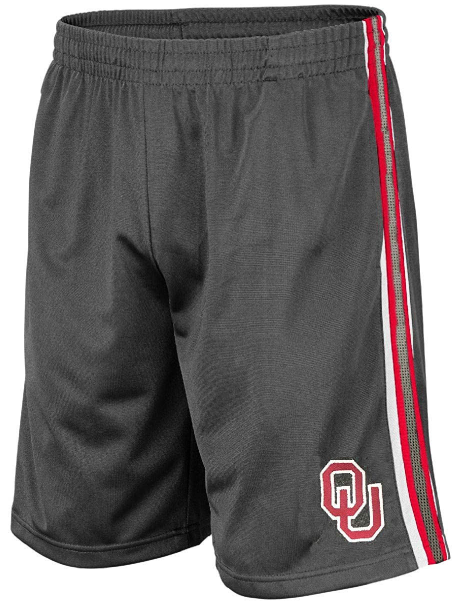 Colosseum NCAA Men/'s Grey Santiago Synthetic Shorts X-Large, Oklahoma Sooners