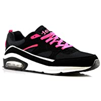Air Tech Ladies Womens Gym Jogging Running Lace up Trainers Shoes Size 4-8-