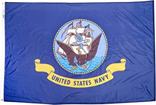 product image for Annin Flagmakers Model 439031 U.S. Navy Military Flag 4x6 ft. Nylon SolarGuard Nyl-Glo 100% Made in USA to Official Specifications. Officially Licensed Manufacturer.