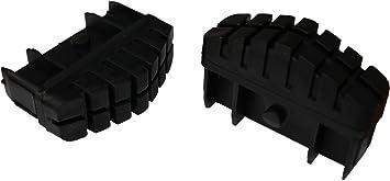 Hailo 9911-001 - Pack de 2 tacos antideslizantes con superficie total de apoyo para largueros de escalera de 85 x 25 mm: Amazon.es: Bricolaje y herramientas