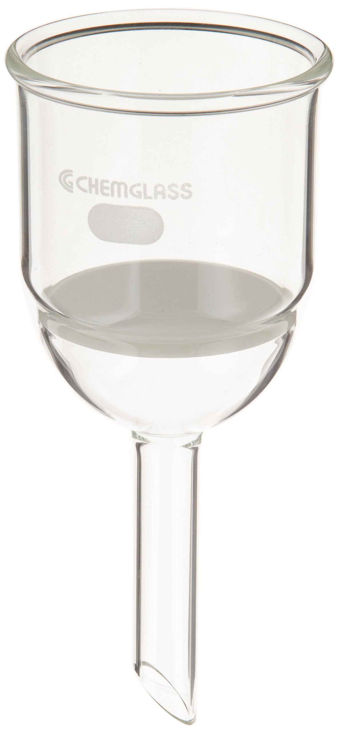 Chemglass CG-1402-20 Glass Buchner Filtering Funnel with Fine Frit, 150mL Capacity