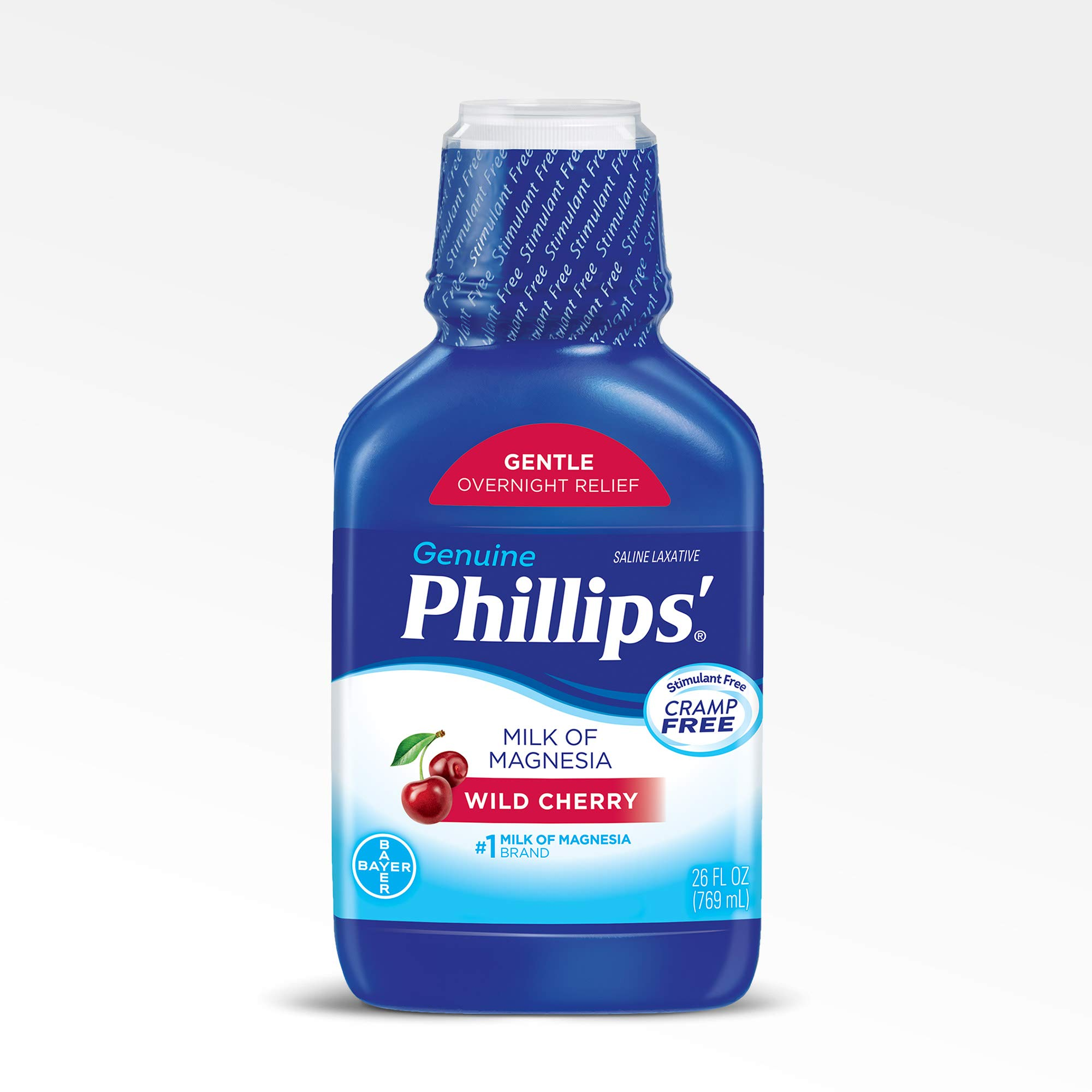 Phillips Milk of Magnesia Laxative (Wild Cherry, 26-Fluid-Ounce Bottle