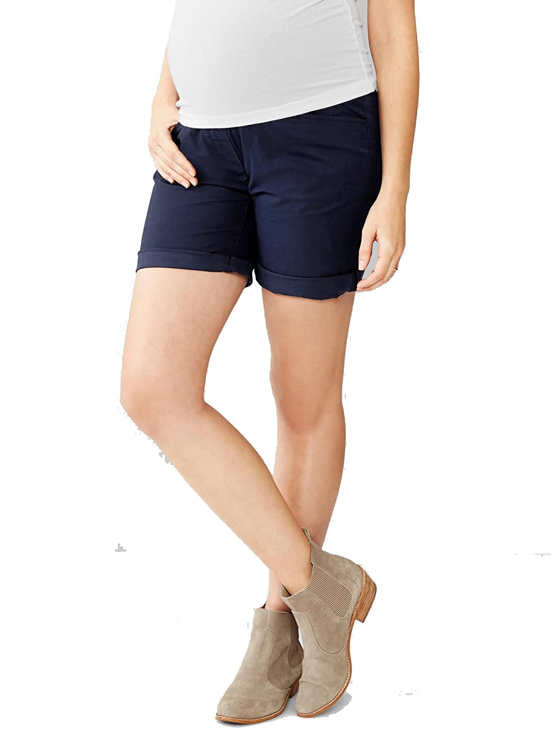 GAP Full Panel Khaki Boyfriend Maternity Shorts 162048