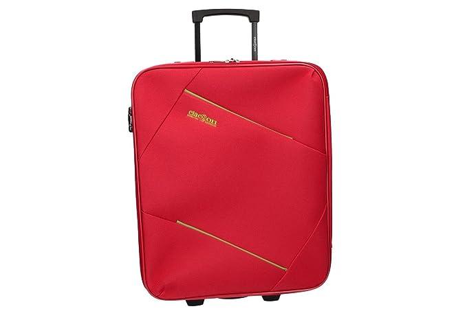 CLACSON Equipaje de mano semi rígido rojo maleta trolley 50x40x20 cm VS334: Amazon.es: Ropa y accesorios