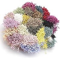 Yesiidor mischfarbe Blume staubblatt DIY Blume Handwerk floral Center Dekoration Wiederverwendbare Simulation Blume Material