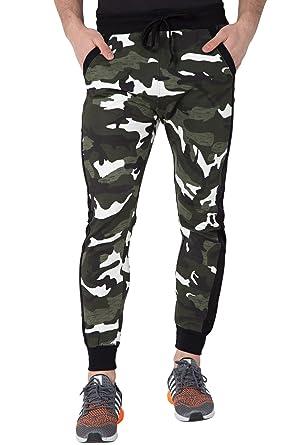 bccf41a6e5 Fflirtygo Men s Cotton Army Track Pants