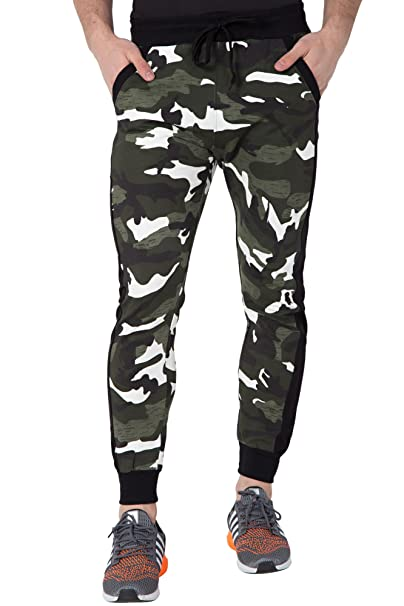 b8f21333b15 Fflirtygo Men s Cotton Army Track Pants