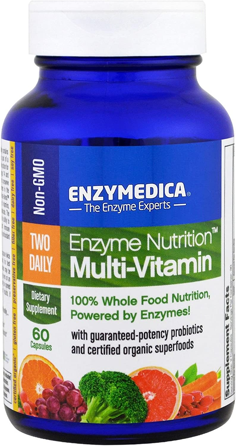 Enzyme Nutrition - Two Daily Multi-Vitamin, 100% Whole Food Nutrition, 60 Capsules