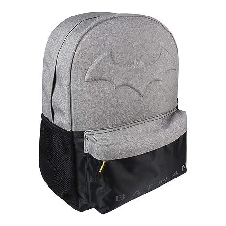 Cerdá Batman Mochila Infantil, 42 cm, Gris