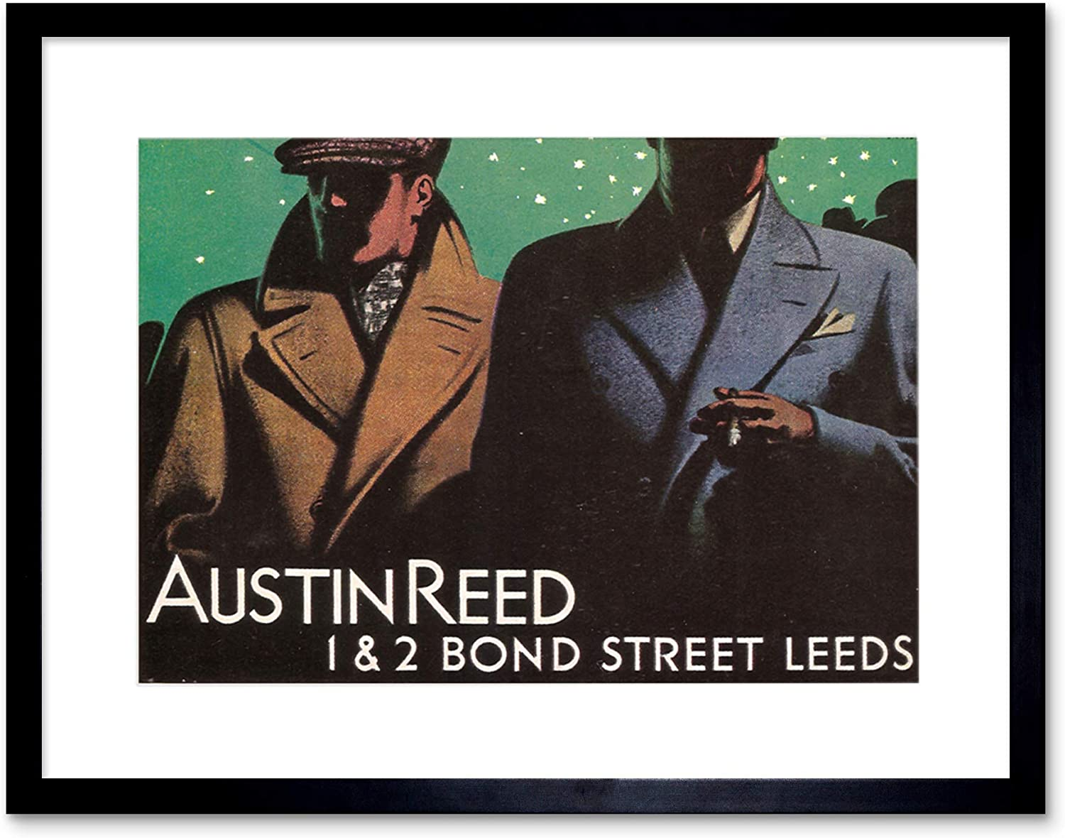 Amazon Com Advertisement Austin Reed Bond Street Leeds Yorkshire Framed Art Print B12x6125 Furniture Decor