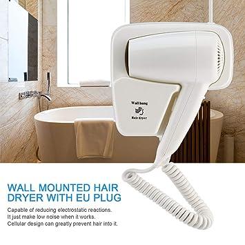 Dailyinshop Secador de Pelo montado en la Pared 1300W hogar Que cuelga el Ventilador eléctrico para el Hotel: Amazon.es: Hogar