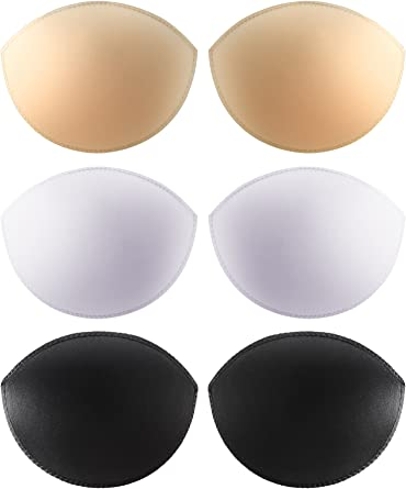 eBoot 3 Pairs Removable Bra Inserts Push-up Breast Enhancement Bra Pads