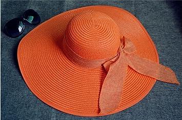 FANGSHAI Sombrero Mujer Verano Sombrero Grande Sombrero para el Sol Mujer Balneario  Playa Junto a la d689f2c0f20