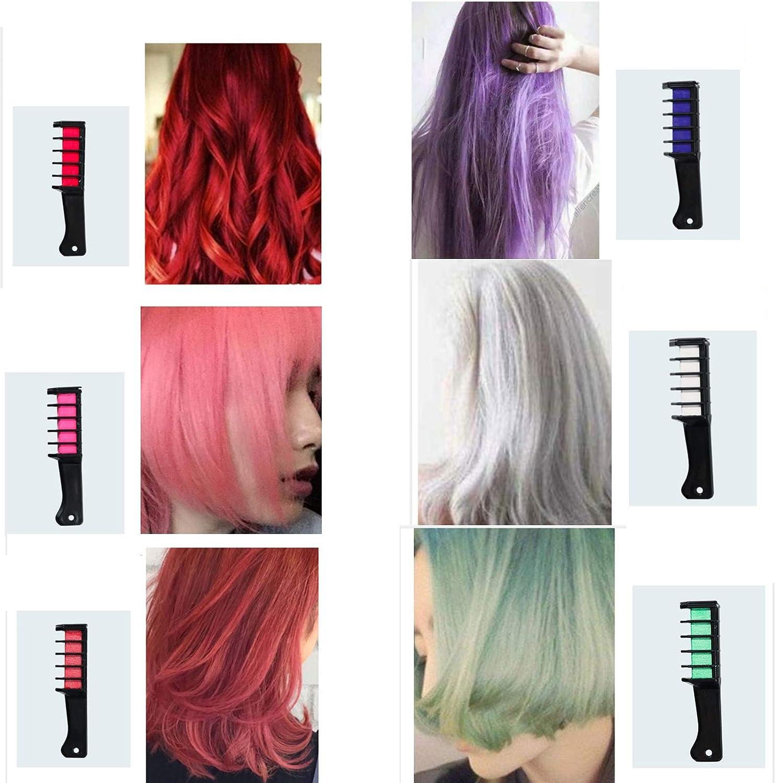 Regalo de tiza para el cabello para niñas, colorido peine de ...
