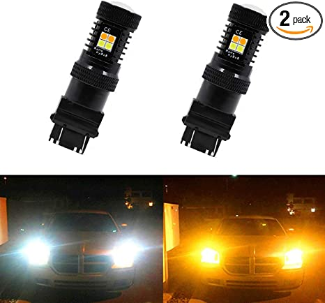 2x LED Load Resistor Fix Hyper Flash For Switchback Turn Signal Light 3157 4157