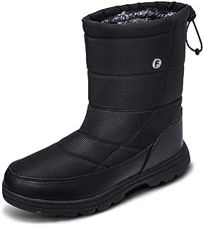 soouops Women s Men s Winter Outdoor Waterproof Warm Fur Mid Calf Snow Boots 70037da62653