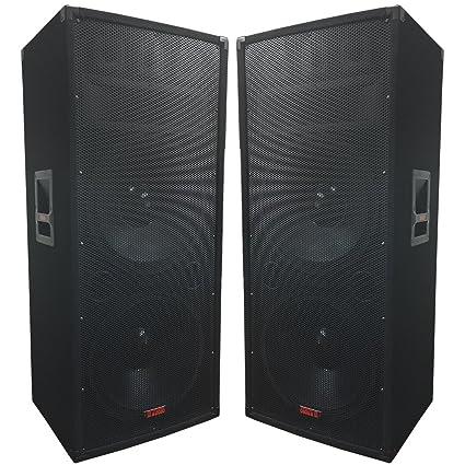 amazon com a pair of dual 15 speakers 1500 watts 3 way adkins