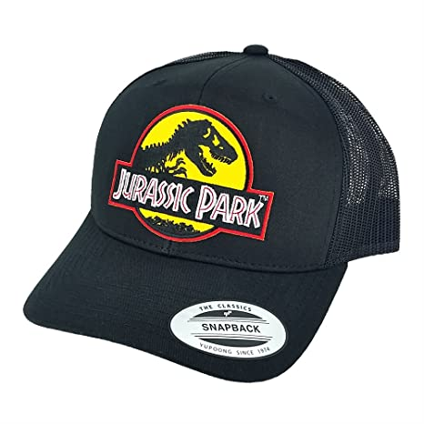 18f4488da Project T Jurassic Park Yellow Movie Patch Trucker Mesh Back Caps Black Hats