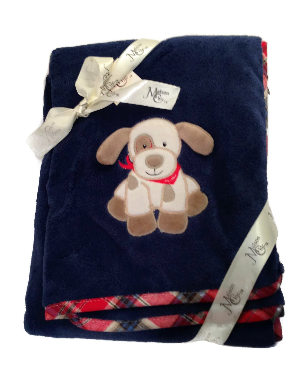 Maison Chic Max The Puppy Plush Baby Blanket