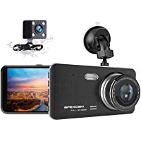"""Dash Cam for Car Front Rear Dual Dash Camera 4"""" IPS 1080 Driving Recorder 170°Wide Angle with Backup Camera,G-Sensor…"""