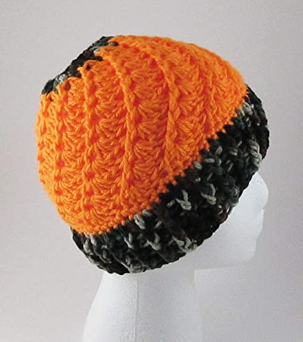 Amazoncom Hunting Crochet Messy Bun Hat Camo Orange Ponytail Hat