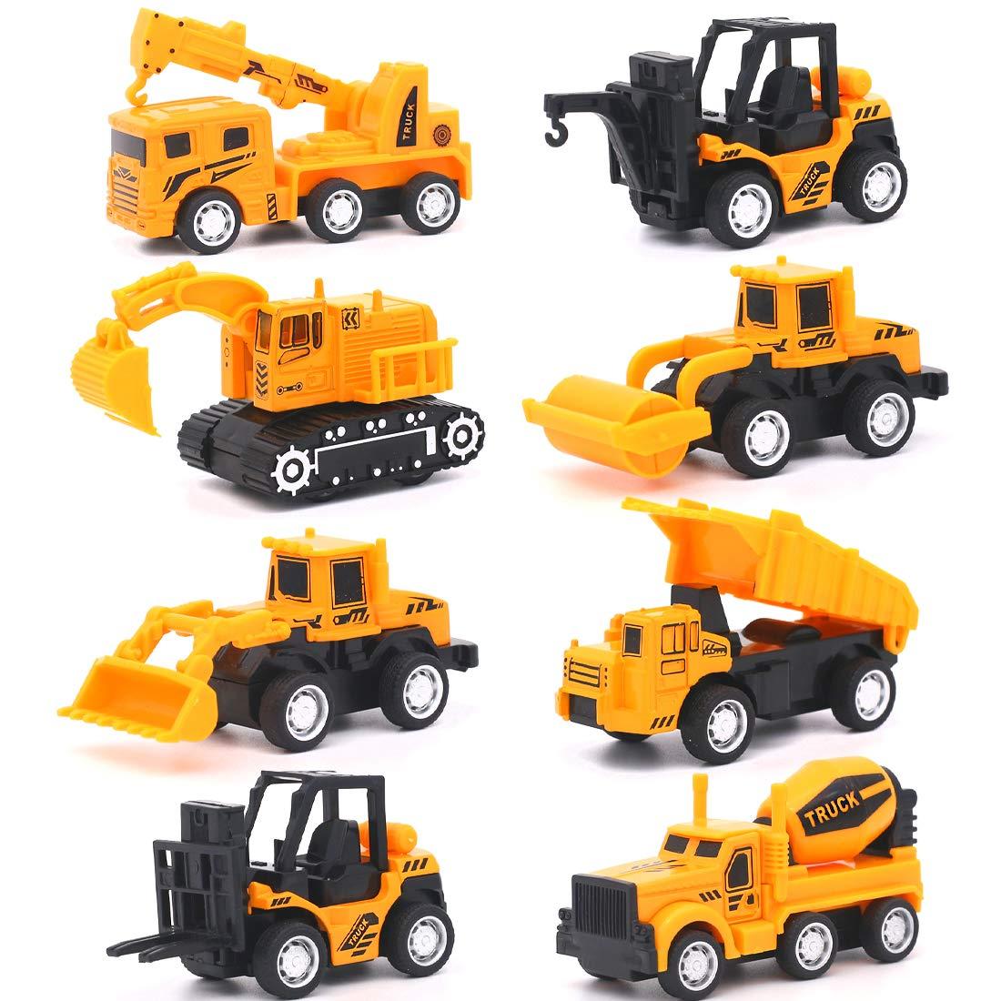 Vanplay Mini Construcci/ón de Coches de Juguete 1:55 Modelo de Coche Friction Powered Car Toys para Ni/ños 3 A/ños,Pack de 8