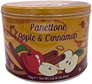 Chiostro Di Saronno Italian Apple & Cinnamon Panettone | Premium Metal Tin | Fresh Baked Cake filled with Candied Apple Cubes